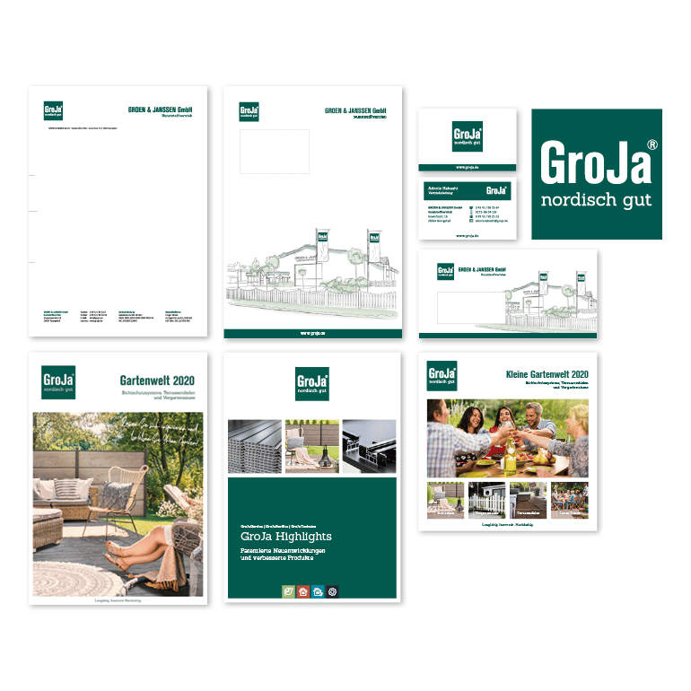 Referenzen Corporate Design GroJa