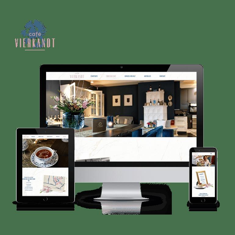 Referenzen Website Café Vierkandt