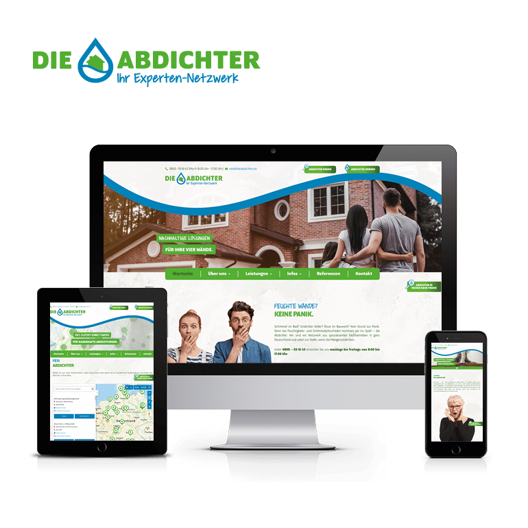 Referenzen Website Die Abdichter