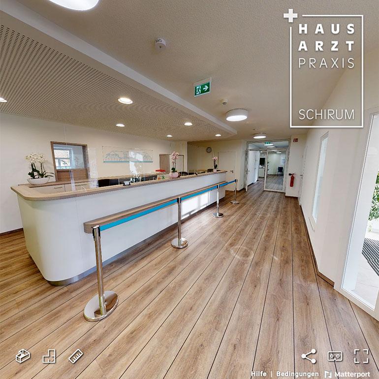 3D-Rundgang Referenz Hausarzt Praxis Schirum