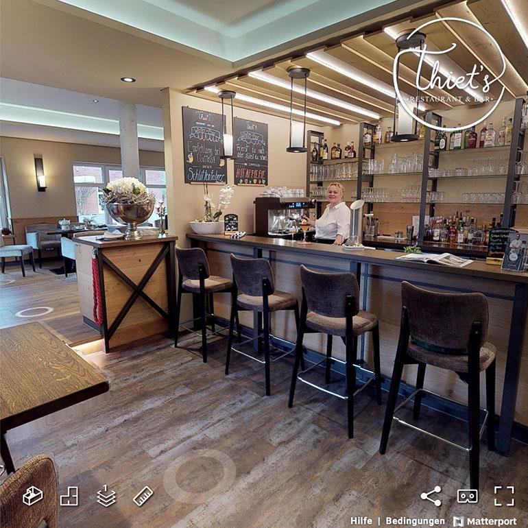 3D-Rundgang Referenz Thiet´s Restaurant