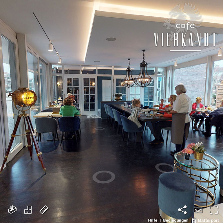 3D-Rundgang Referenz Café Vierkandt