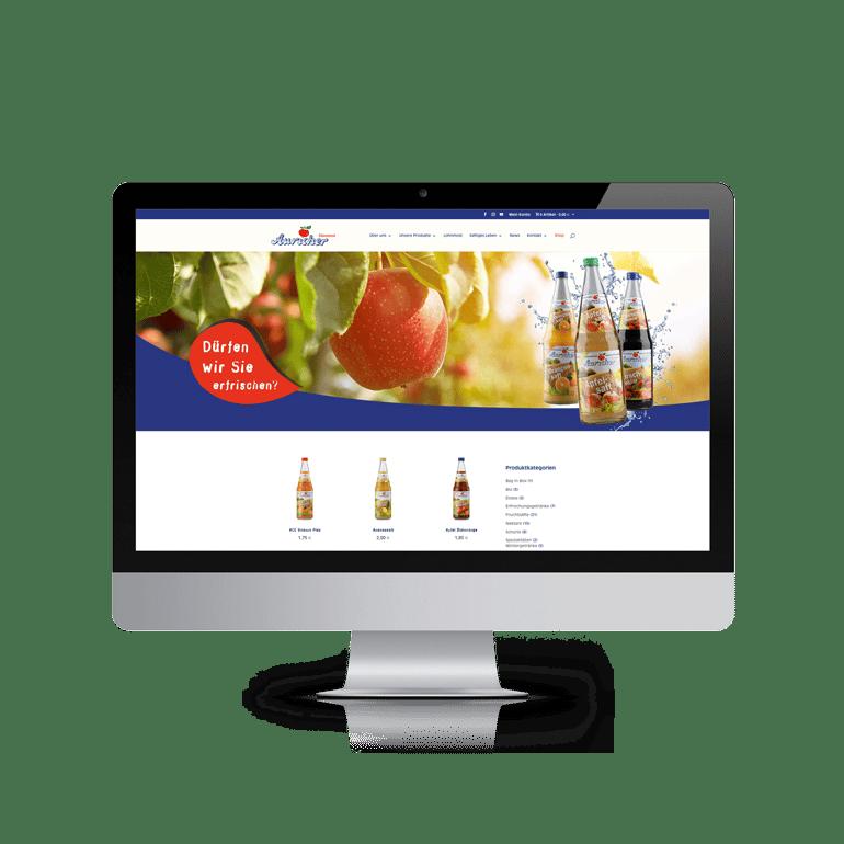 Referenzen Online-Shop Auricher Süssmost