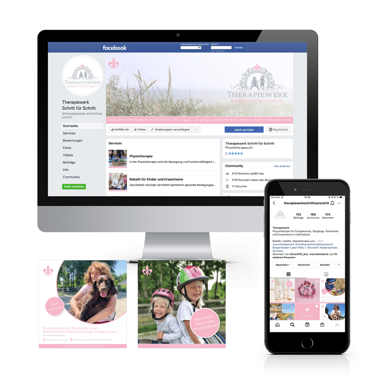 Referenzen Social Media Therapiewerk Schritt für Schritt
